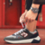 Breathable  Patchwork  Lace-up Sports Walking Running Casual Shoes Men  Outdoor Anti-Slip Sneakers