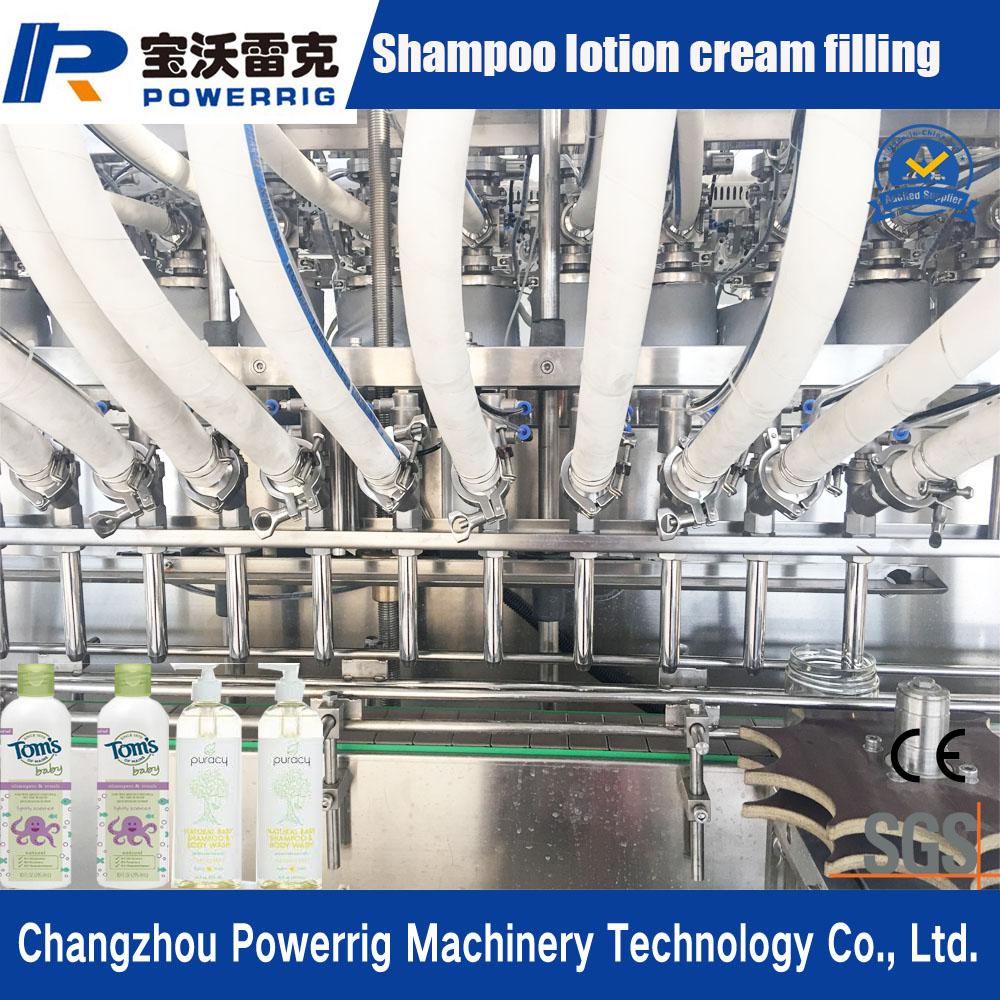 New condition automatic linear piston detergent filling machine for cream and lotion