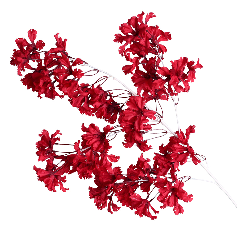 2020 New Style Hot Sale Artificial cherry blossom branch hanging for wedding decoration Blue Sakura for Office Store Decoration