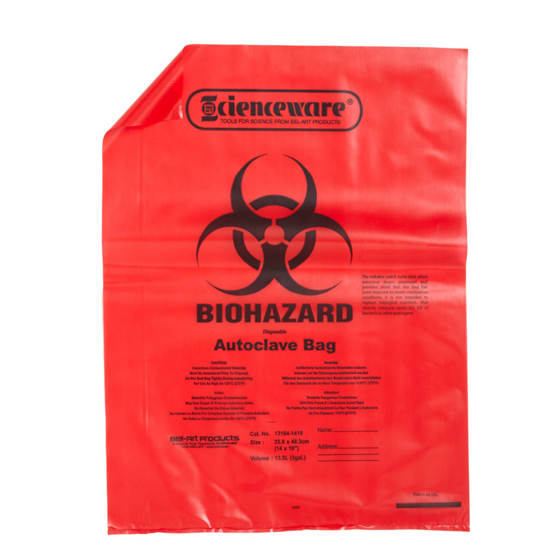 Custom Size Portable Heavy Duty Yellow Hdpe Plastic Medical Trash Bin Liner Bags Biohazard Waste Garbage Bags For Hospital Waste