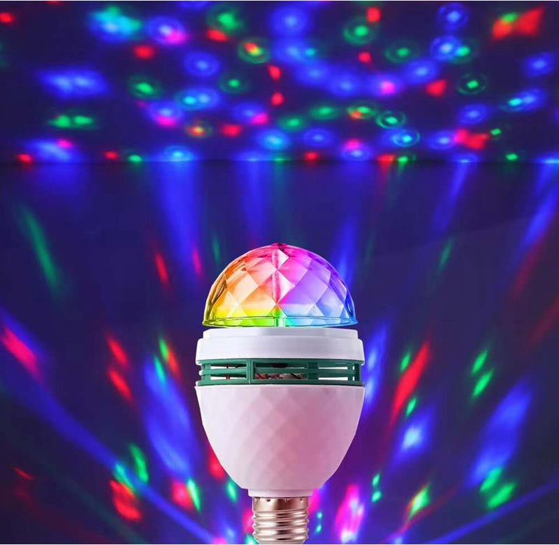 Led  Ball light Magical Music Smart Bulb  2.8W B22 full color rotating lamp on stage