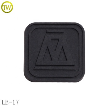 High Quality Clothing Brand Rubber Logo, 3D Customized Soft Rubber Patches,PVC label