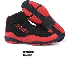 Мужская профессиональная обувь для бокса, борьбы с тяжелой атлетикой, мужские мягкие дышащие износостойкие тренировочные боксерские сапог...(Китай)