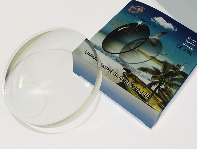 Chất Lượng Cao Ống Kính Mắt 1.56 Nhựa Photogrey Round Top Bán Thành Phẩm Ống Kính Quang Học Photochromic