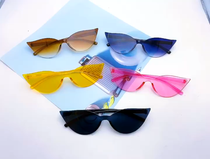 custom fashion vintage black pink orange small cat eye sunglasses