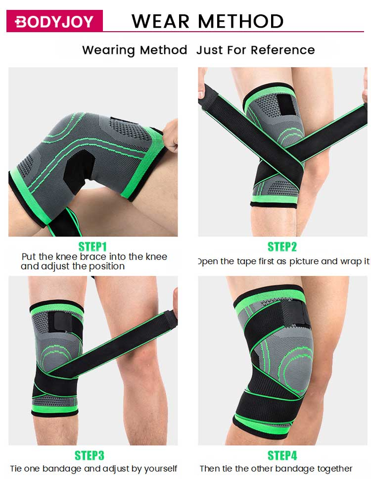 Sport safety knee support with adjustable straps