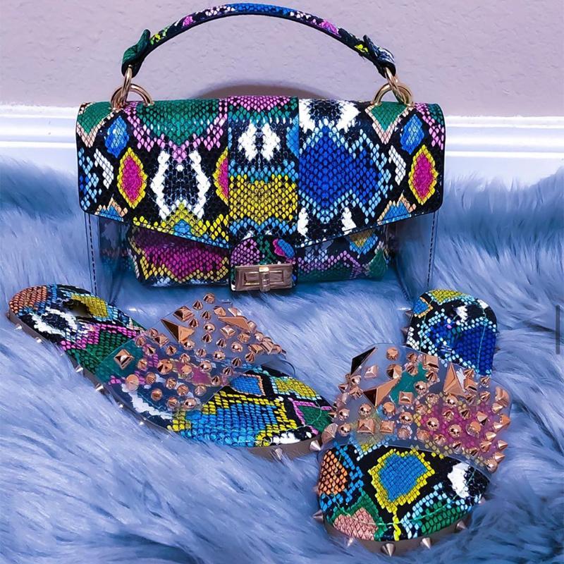 Women S Shoulder Bag Jelly Snakeskin