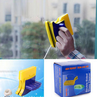 Adjustable Magnetic Anti-Pinch Double Sided Glass Wipe, Household Safety Window Cleaner Wiper Brush