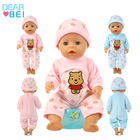 Wholesale New Plush Doll Clothes Toy Jumpsuit Suitable For 18 Inch Newborn Baby Doll Accessories Children'S Gift