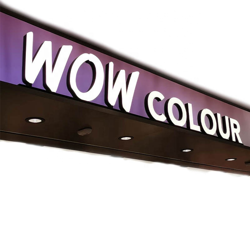 custom led light 3d illuminated  channel letter sign price