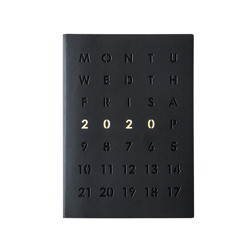 Повесток 2020 планировщик Органайзер А5 дневник тетрадь и журнал Черный Еженедельный ежемесячный обратно в школу бизнес путешествия записна...(Китай)