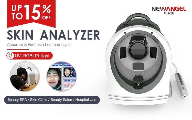 UV + RGB + PL luz máquina de análise da pele analisador de pele facial