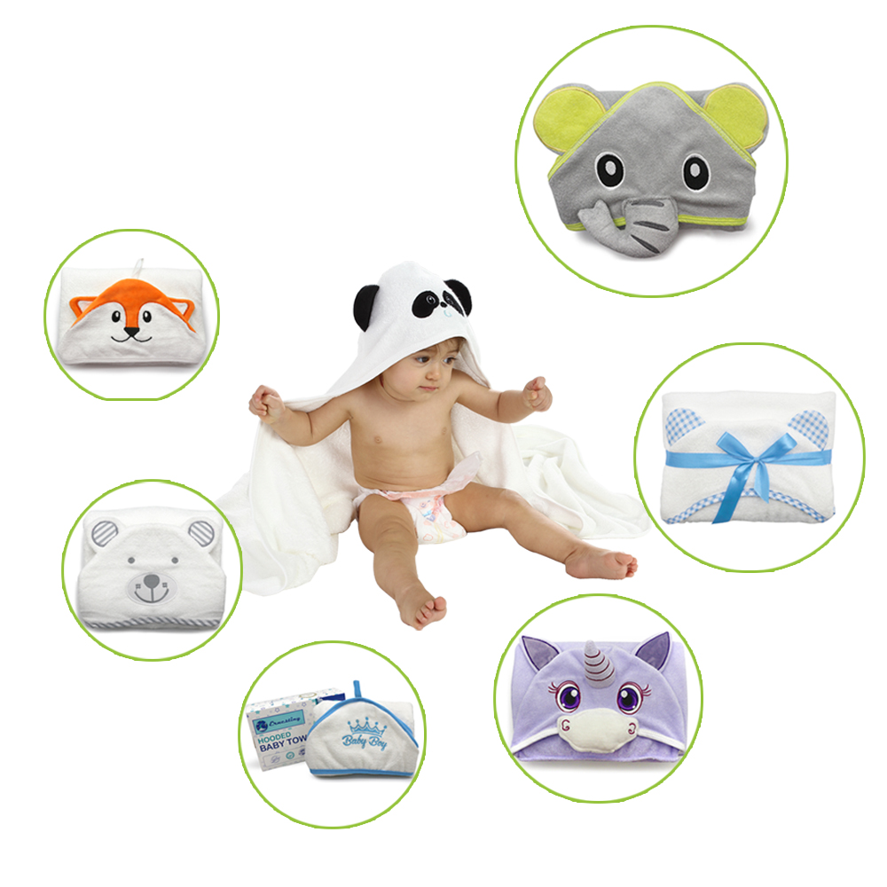 Wholesale 90*90cm animal design 100% bamboo baby hooded bath <strong>towel</strong>