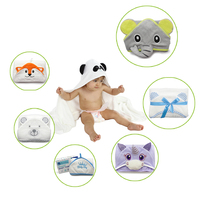 Wholesale 90*90cm animal design 100% bamboo baby hooded bath towel