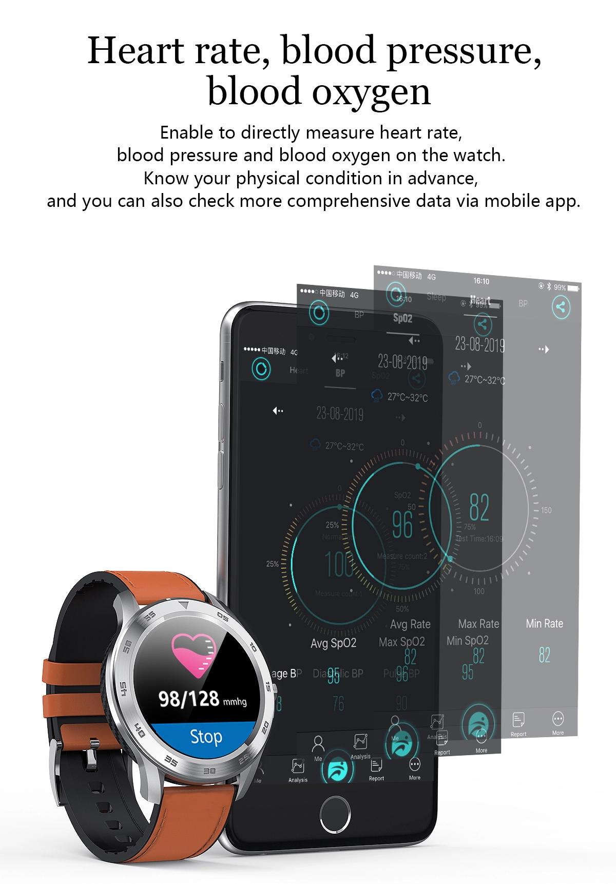 DT98 Vérnyomásmérő Okosóra EKG Pulzusmérés IP68 Bluetooth hívás smartos.hu