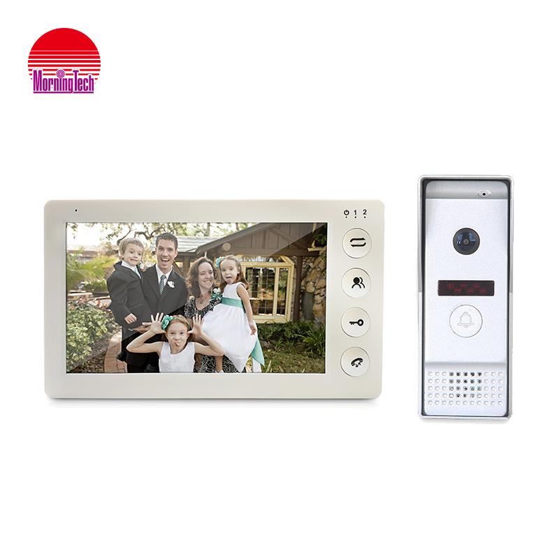Cheap white black 7 inch TFT mp3 player metal housing video door phone talking remote doorbell