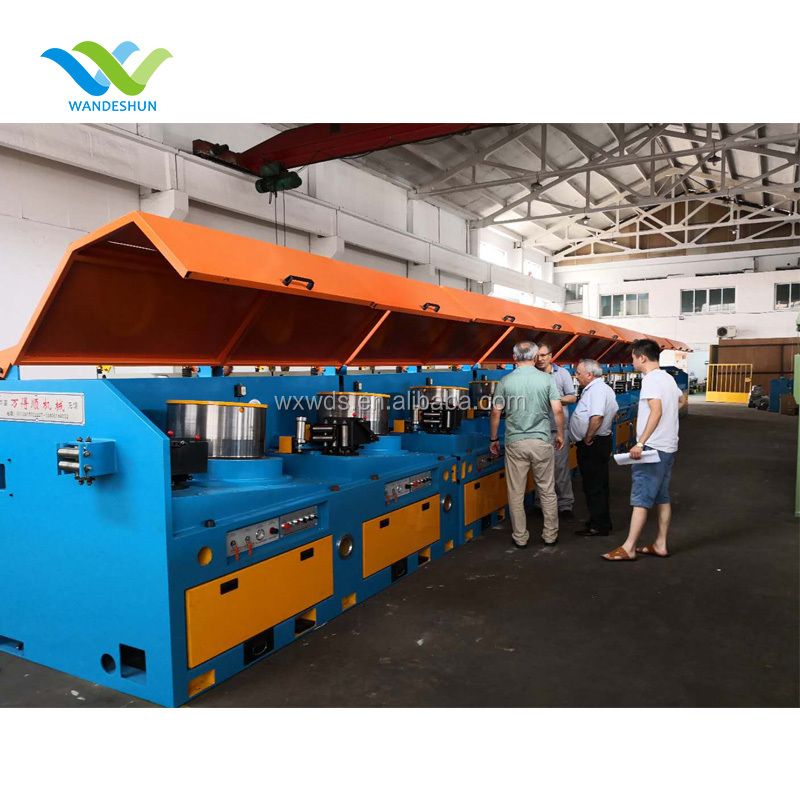 Dry type high carbon straight line wire drawing machine
