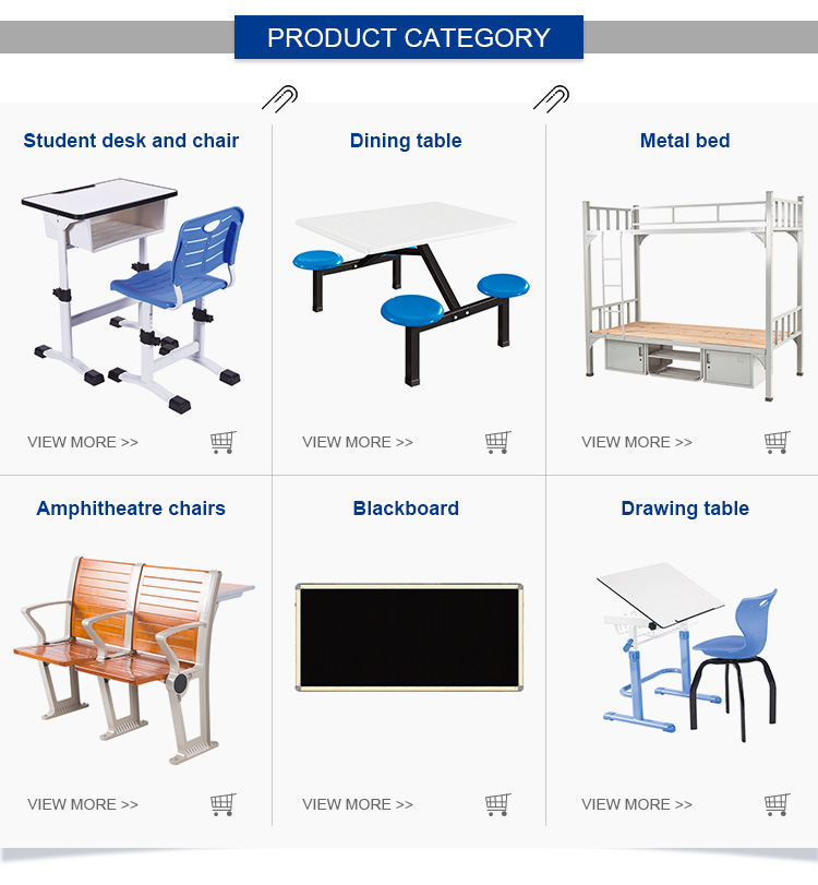 china cheap furniture manufacturers double modern student chair prices school bench and desk
