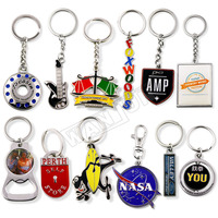 Manufacturer custom logo metal and leather personalized sublimation blank 3D key chain ring