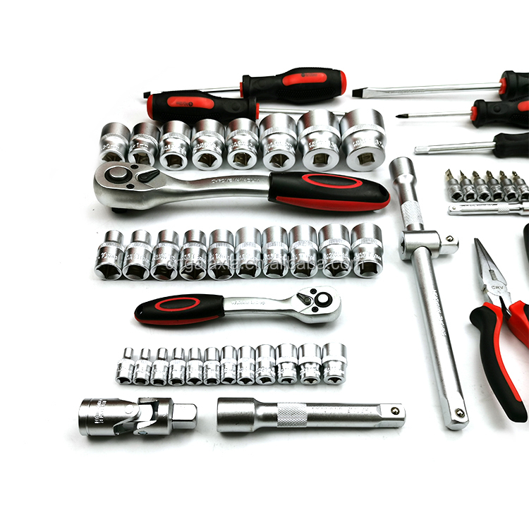 TECUNIQ 86pcs Car Repair Wrench Tool Set Kits Multifunctional  Mechanic Car  Vehicle Hand Tools Set For CHRISTMAS GIFT