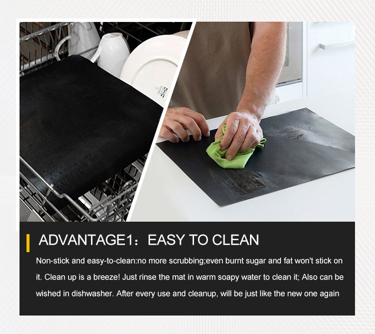 Large Easy Clean Non-Stick Bbq Grill Baking Mat Set