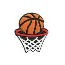 1-5 шт., спортивные баскетбольные мячи, бейсбольные боулинг, ПВХ, обувь, амулеты Jibz для КРОК, обувь, украшение, аксессуары, детский подарок(Китай)