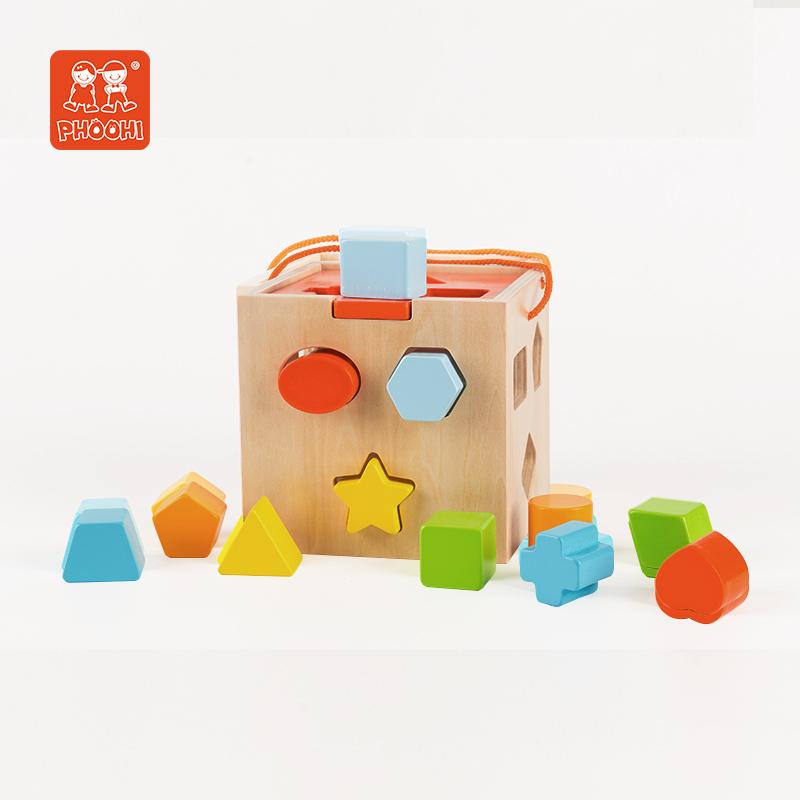 Детский кубик материала Монтессори, детская деревянная образовательная форма, Сортировочная игрушка для ребенка 18 м +