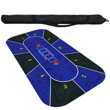 1.8m Texas Hold'em Tafel doek Rubber Mat Board Game Tafel Top Digital Printing Suede Casino Layout Poker Accessoires