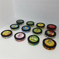 100ml Empty mint dry food tin cans with plastic lid and stickers
