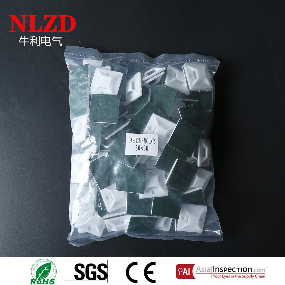 Nylon Self adhesive Cable ties mounts