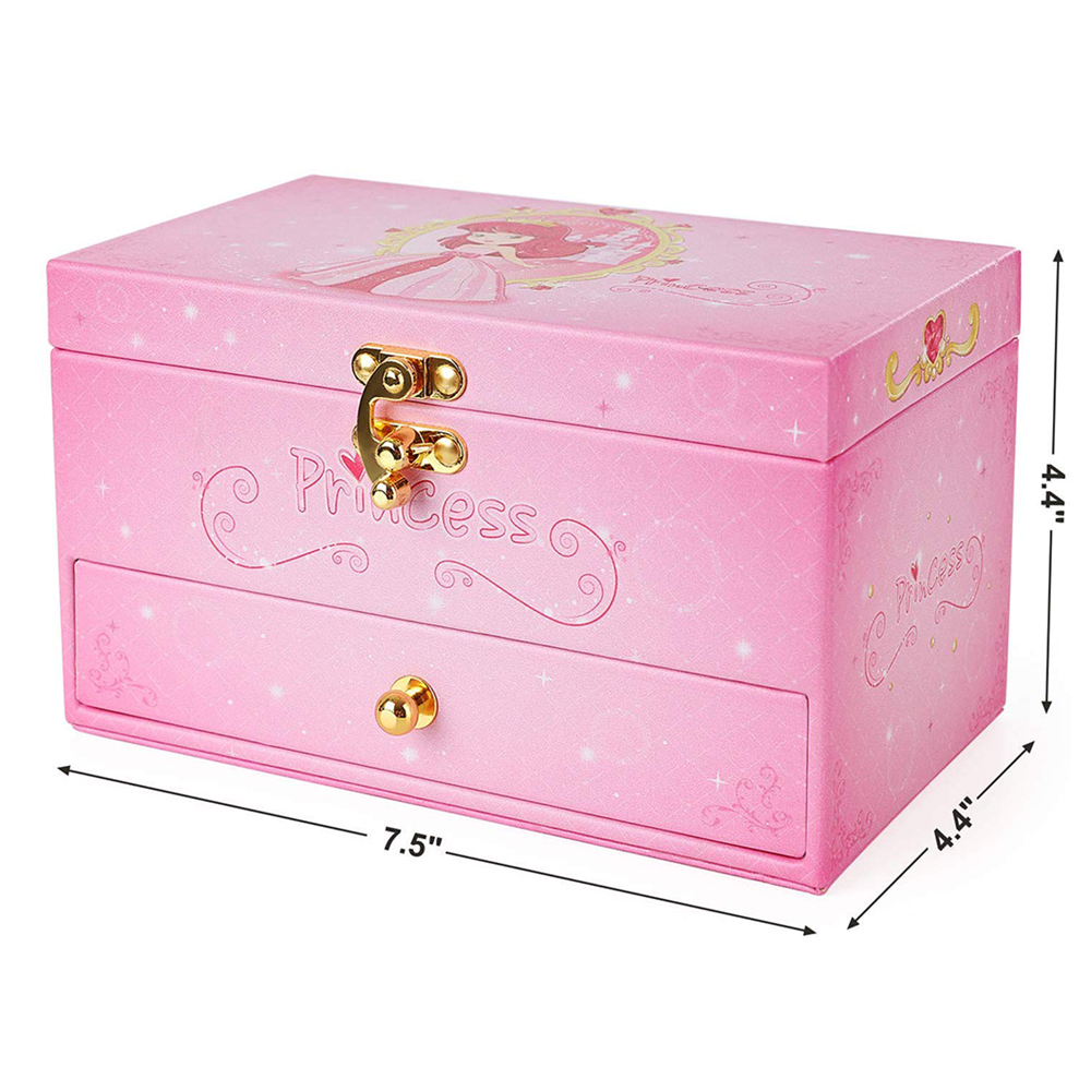 buy personalised custom best handmade little girls pink lock jewellery ballerina jewelry box