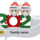 Family 2020 Decoration Gift Personalized Survivor Family With Face Muffle Hand Sanitized Christmas Ornaments Sets For Home