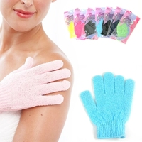 Deliwear Nylon Dead Skin Brush Deep Cleansing Loofah Like Shower Gloves for Bath
