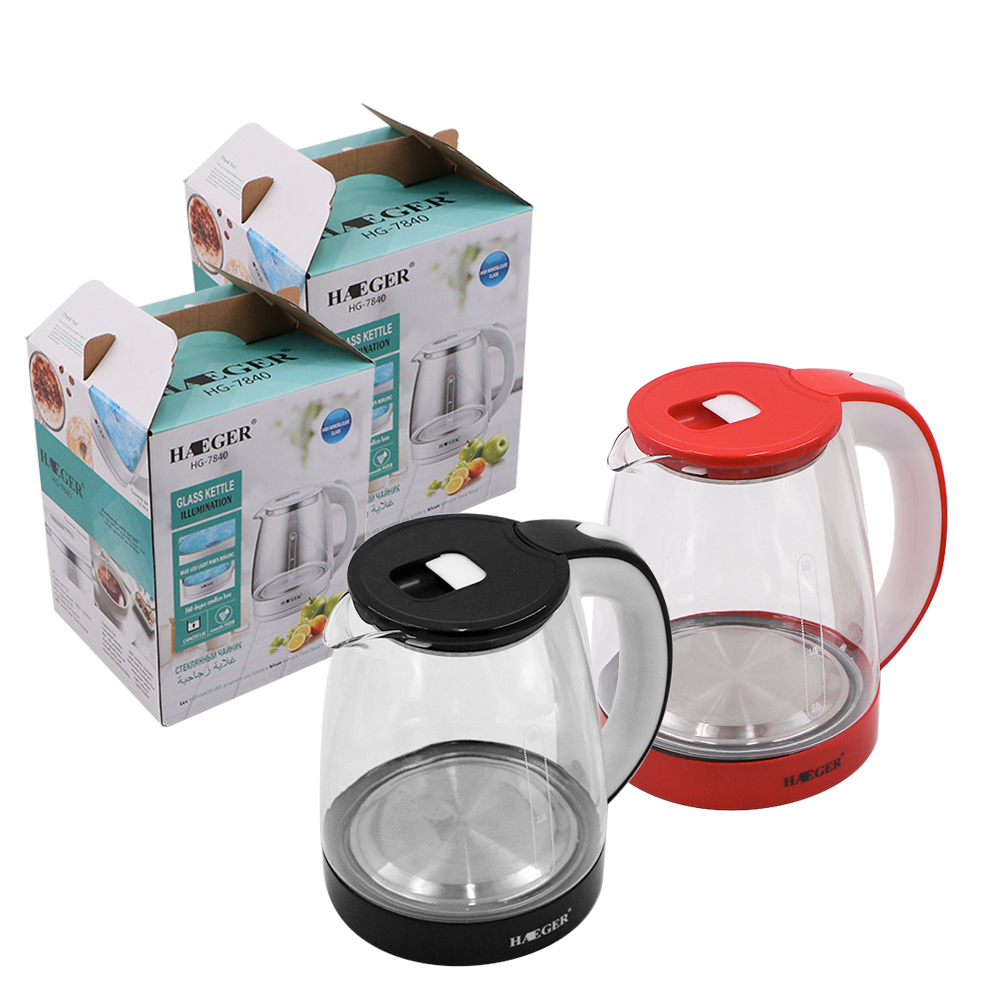 new design 304 Stainless steel glass electric kettle
