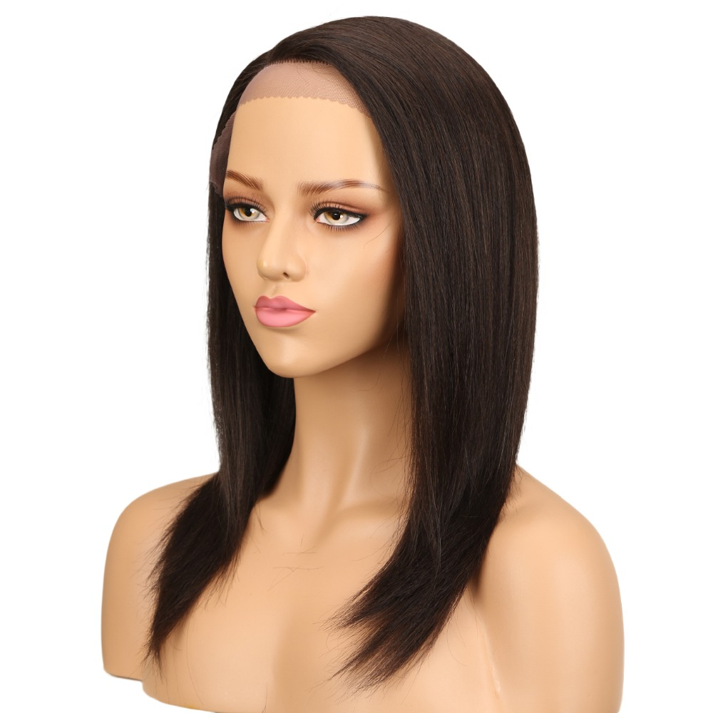 T lace part with lace frontal glueless red blend straight 180 density full 19 inches frontal colored wigs human hair lace front