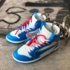 Dropping AJ1 OFF-WHITE 3D sneaker keychain mini shoe for promotion gift in pairs nike shoes men