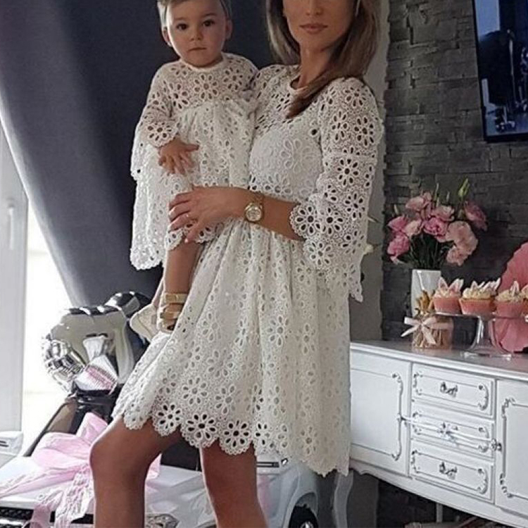 Mother Daughter Matching Dresses Clothing Kids Mommy and Me Outfits