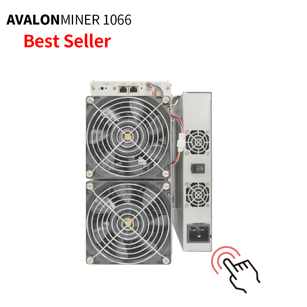 stock miner AvalonMiner 1066 50TH/s 3250W bitcoin mining hardware