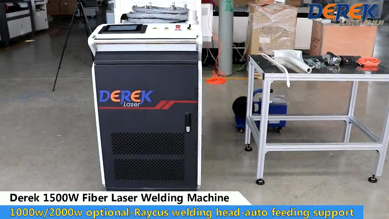 Derek cnc 1000w macchina di saldatura laser in fibra 1500w tenuto in mano portatile tenuto in mano prezzo con Raycus per la saldatura in metallo laser saldatore