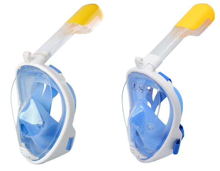 Tauchen Maske Easybreathing Schwarz Blau Rosa Grün Volle Gesicht Schnorchel Maske mit Großhandel Preis