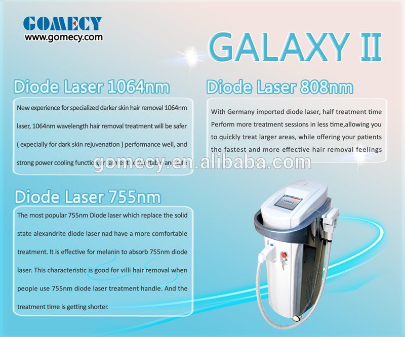 GOMECY triple wavelength 755 808 1064 laser 755nm hair removal equipment laser hair removal machine 808nm diode laser