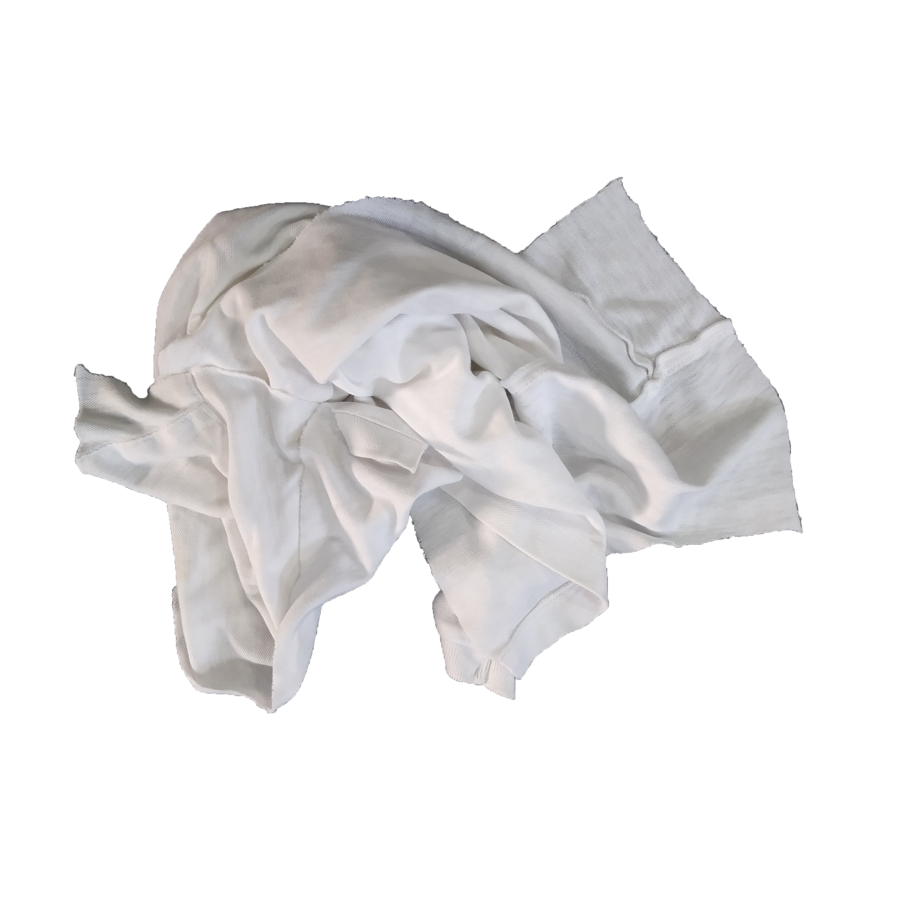 General cleaning 35-55cm waste cloth cut pieces white t shirt industria cotton rags