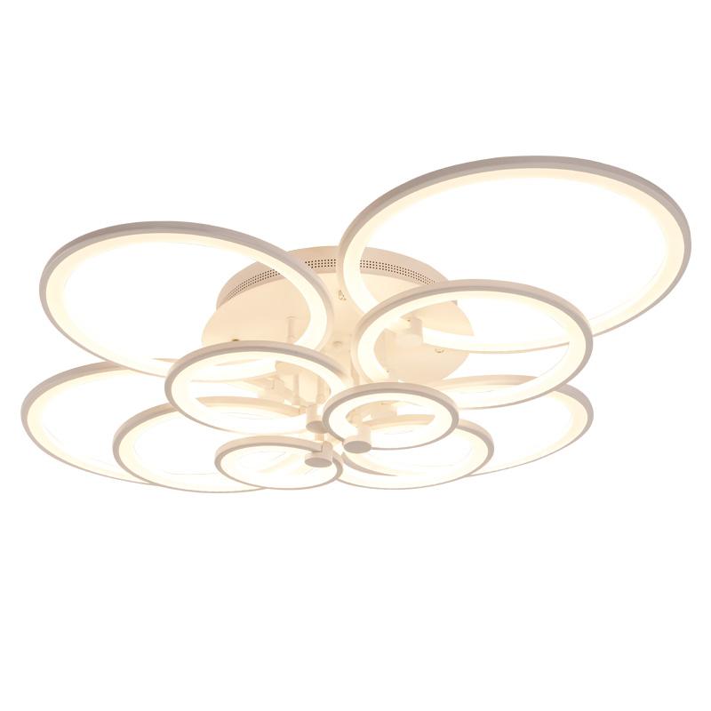 Fancy wit acryl 10 cirkels lamp led plafond verlichting
