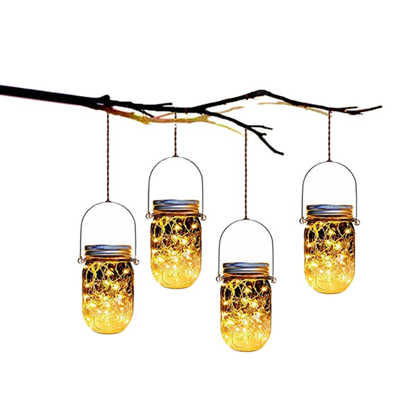 LED solar copper wire hanging lamp christmas decoration wine chiep fairy lights outdoor solar chandelier bottle string light