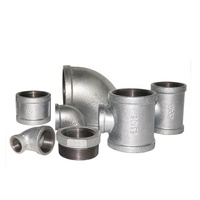 China malleable iron pipe plumbing fittings galvanized black thread cast iron hardware fittings elbow reducing bushing