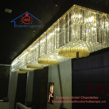 Large Custom Ceiling Crystal Chandelier for Hotel , Villa Sale Hall Project Light Indoor Decoration Big Hotel Ceiling Lamp 9702