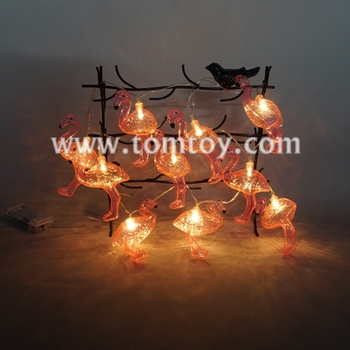 Battery Operated Outdoor Fairy Lights Flamingo LED String Light