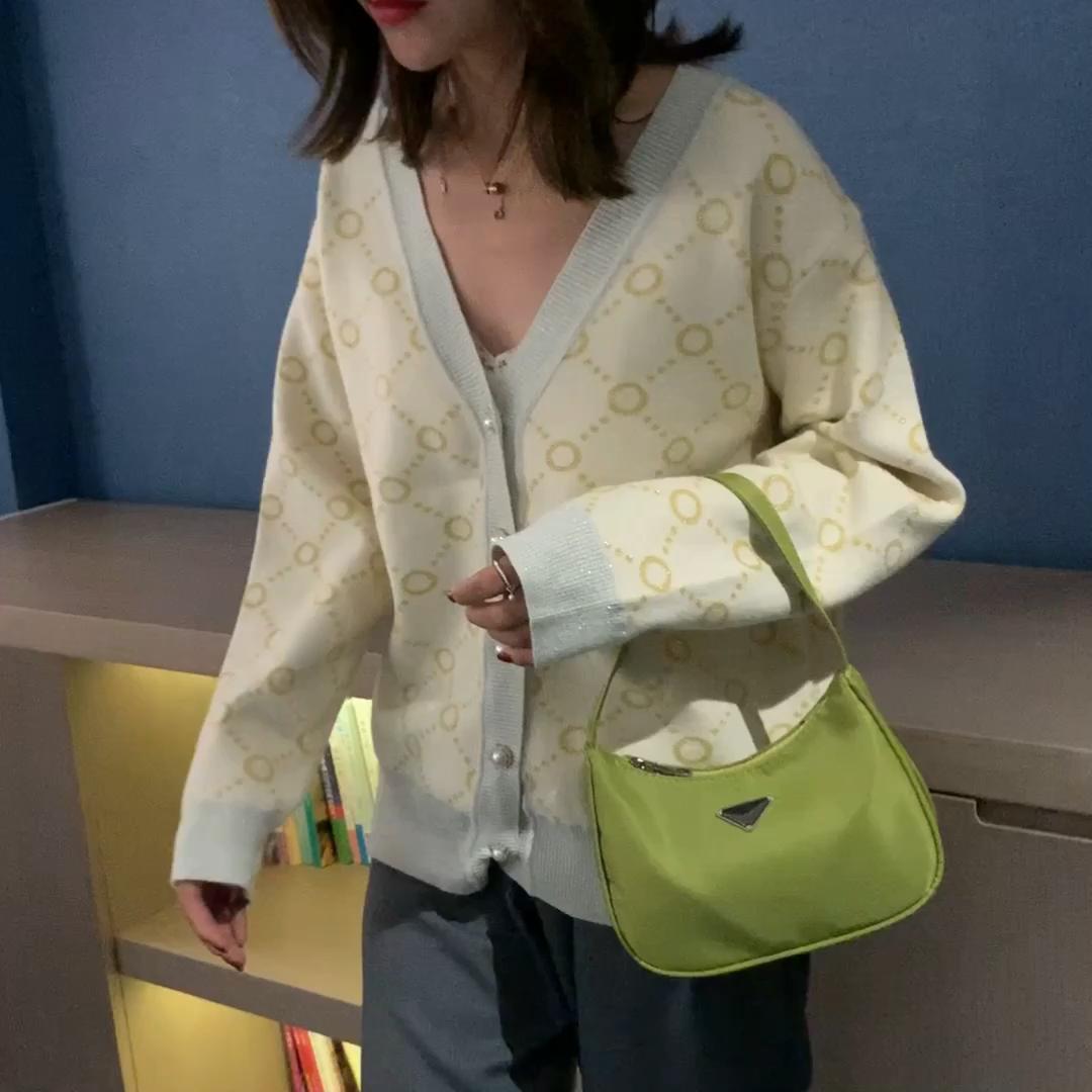 Trendy Vintage Nylon Handbag Female Small Underarm Tote Bag Fashion Hand Bags For Women Casual Retro Mini Shoulder Kendall Bag