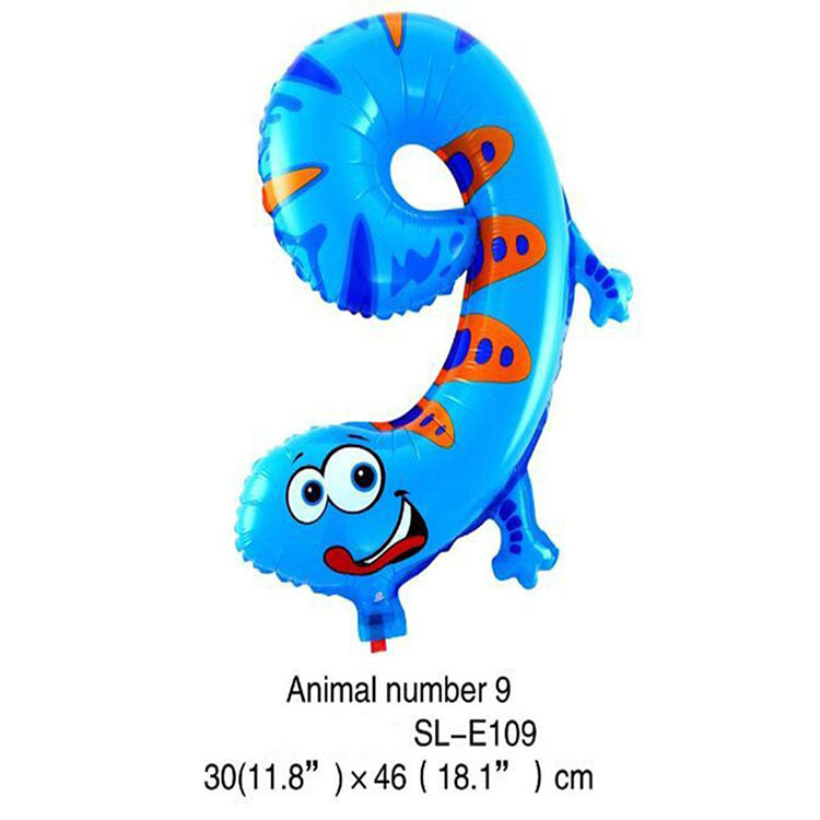 Custom Number Letter Shaped Happy Birthday Party Helium Foil Balloon