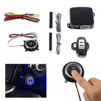 Newest Car Alarm Engine Push Start Stop Button Remote Control Ignition Starter Car Keyless Entry Start Stop car accessory